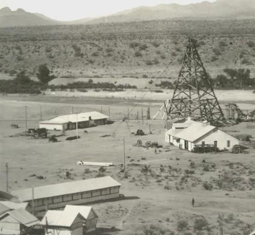 1907 Granite Reef Arizona Diversion Dam Construction Camp